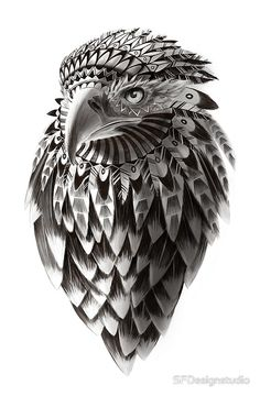 """Ornate Tribal Shaman Eagle Print"" Art Prints by SFDesignstudio | Redbubble"