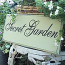 Secret Garden Personalised Vintage Style Sign