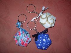 Padded hexagon keyrings £2 each.