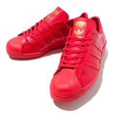 all red adidas superstar 2