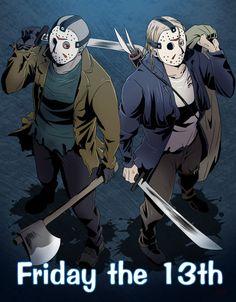 Jason and Remake Jason. I'm loving both.<3333