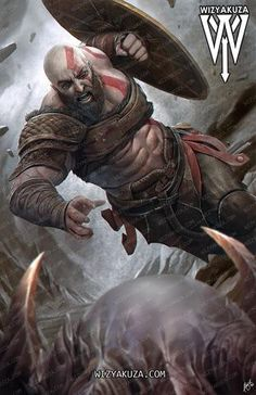 Kratos [God of War IV] by Ceasar Ian Muyuela 'wizyakuza' Geeks, Kratos God Of War, Video Game Art, Video Games, Assassins Creed, Thor, Mythology, Cool Art, How To Draw Hands