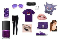 """""""Gengar"""" by tearbear118 on Polyvore featuring Miss Selfridge, Converse, Proenza Schouler, Casetify, Victoria Beckham, Bling Jewelry, Mehron, NARS Cosmetics and Boohoo"""