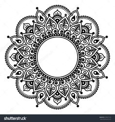 Mehndi Lace, Indian Henna Tattoo Round Design Or Pattern Stock Vector Illustration 279977123 : Shutterstock