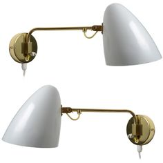 View this item and discover similar for sale at - A beautiful and sophisticated pair of wall lamps By Finnish Master Lighting Designer Paavo Tynell. Wall Lamps, Wall Sconces, Retro Lamp, Modern Wall Lights, Brass Fittings, Lighting Design, Mid Century, Design Inspiration, Antique