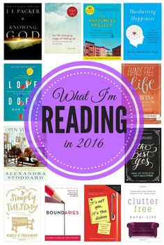 12 self-improvement books to read in 2016 to help you be happier, more organized, and calmer! // Love & Renovations