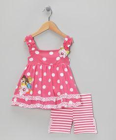 Pink Polka Dot Princess Top   Stripe Shorts - Toddler ae2a194bfd