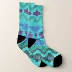 Abstract Tribal Pattern Socks