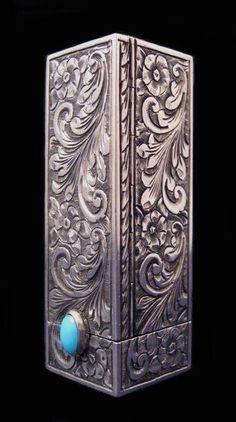Art Deco Silver Lipstick Case, ca. #Diamond