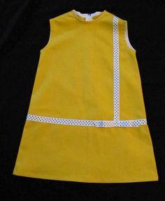 Retro 1965 Inspired Little black dresschildren Kids Outfits Girls, Cute Outfits For Kids, Girly Outfits, Little Girl Dresses, Girls Dresses, Kids Dress Wear, Kids Frocks Design, Kind Mode, Yellow Dress