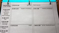Much better use of space for daily template (from All-in-One Teacher Binder printables - Ladybug)