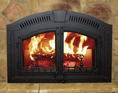 Buy the Napoleon Black Direct. Shop for the Napoleon Black High Country EPA Zero Clearance Wood Burning Fireplace and save. Vented Gas Fireplace, Custom Fireplace, Farmhouse Fireplace, Stove Fireplace, Fireplace Remodel, Fireplace Inserts, Fireplace Doors, Toto Toilet, Cabin Interiors