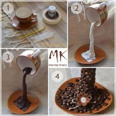 Geometric decoration – World of Flowers Crafts To Make, Home Crafts, Diy Crafts, Tea Cup Art, Tea Cups, Coffee Cups, Coffee Bean Art, Floating Tea Cup, Teacup Crafts