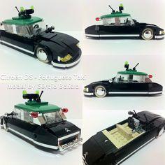 https://flic.kr/p/nhNHfp | Lego Citroën DS - Portuguese Taxi | Lego 7wide réplica moc of iconic Citroën DS with portuguese taxi color scheme