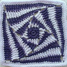 Knitting crochet motif