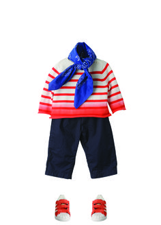 wouldn't it be fun to sew and Oliver + S Sailboat Top and Pants to make an outfit like this?