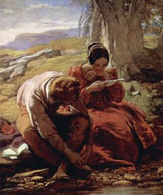 The Sonnet, William Mulready, 1839.                   This picture hangs above my bed.