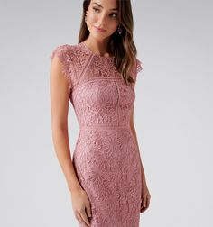 Tara Lace Pencil Dress Pink Flutter - Womens Fashion   Forever New Pink Pencil Dress, Pink Dress, Forever New Dress, Fashion Forever, Mother Of The Bride, Shorts, Lace, Womens Fashion, Wedding