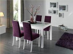 Mesa De Comedor Moderna Laca Blanca Zaira   Mesas De Comedor Modernas    Muebles De Comedor