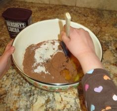 My sister has never, ever bought a box-mix of brownies. Can you believe it? With this recipe, you can see why! The kids are able to make this on their own now without any help from me… Now I'll pass it along to you if you like baking...