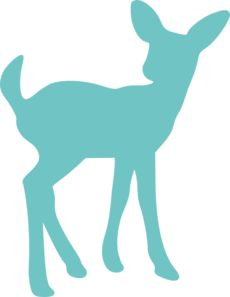 Teal Fawn Deer clip art - vector clip art online, royalty free & public domain
