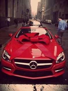 imagine receiving this around Christmas time that beautiful red just sitting in your garage:)