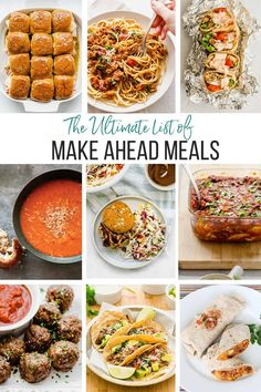 These are our favorite 10 most well-tested, make ahead recipes when it comes to getting dinner on the table. Not only are these make ahead meals family-friendly, but they are also made with mostly real food ingredients that you can feel good about. If you are a fan of easy freezer meals, you'll love this roundup. Healthy Freezer Meals, Healthy Family Meals, Make Ahead Meals, Healthy Meal Prep, Easy Meals, Freezer Cooking, Family Recipes, Best Comfort Food, Comfort Foods