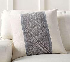 Jace Diamond Band Jacquard Pillow Cover #potterybarn