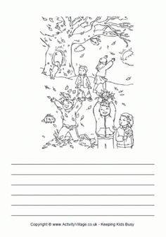 Falling leaves story paper, children catching falling leaves from autumn tree Sequencing Pictures, Story Sequencing, Shapes Worksheets, Worksheets For Kids, Autumn Trees, Autumn Leaves, Creative Writing Worksheets, Key Stage 1, Picture Composition