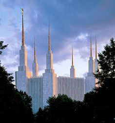 The beautiful Washington, D.C. Temple. You can feel a wonderful spirit just walking on the temple grounds. At Christmastime, the grounds are decorated with thousands of little lights.  It is a gorgeous sight!