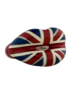 7d09b82a0ef Solange Azagury-Partridge Hotlips British Hotlips Flag Ring Red Jewelry,  Silver Jewellery, Jewelry
