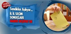 Saat 17'de Türkiye genelinde oy verme işleminin tamamlanması sonrası oy sayımına geçildi.İl il seçim sonuçları haberdesifre.com'da