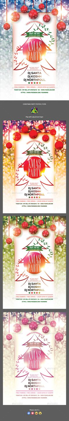 #Christmas Party Poster / Flyer - Clubs & Parties Events