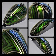 Green metal flake