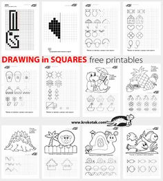 children activities, more than 2000 coloring pages Visual Motor Activities, Activities For Kids, Art Worksheets, Preschool Worksheets, Art Handouts, Tangram, Teaching Shapes, Graph Paper, Step By Step Drawing
