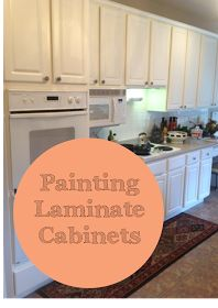 How-To,  Paint Laminated Cabinets. Repairing, and painting, don't replace them yet!  Theraggedwren.blogspot.com