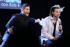 Jensen Ackles and Jared Padalecki     Supernatural JIB Con 5 - 2014