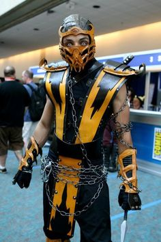 The perfect detail designs are being carved onto this popular Mortal Kombat 11 Scorpion Cosplay Costume. Completely ensuring that you own the very same attire as exactly seen in the game. Cosplay Mortal Kombat, Scorpion Mortal Kombat, Mortal Kombat Costumes, Marvel Cosplay, Cosplay Anime, Cosplay Diy, Best Cosplay, Cosplay Costumes, Cosplay Ideas