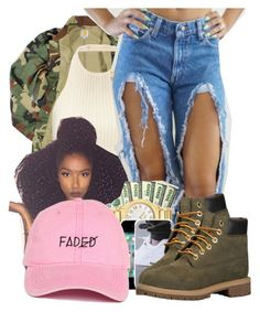 """""""CAMOFLAGE"""" by kdheart1 ❤ liked on Polyvore featuring Carhartt, Timberland, women's clothing, women's fashion, women, female, woman, misses and juniors"""