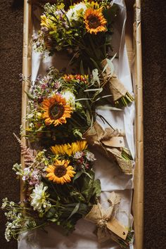 Cannon Hall Wedding Rustic Tipi Wonderland with Sunflowers Sunflower Bouquet Flowers Bride Bridal Country Wild Cannon Hall Wedding Neil Jackson Photographic Wedding Flower Guide, Flower Bouquet Wedding, Bouquet Flowers, Wedding Ideas, Silk Flowers, Sunflower Bouquets, Sunflower Boutonniere, Wedding Flower Arrangements, Floral Arrangements