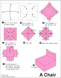 origami chair - Google Search