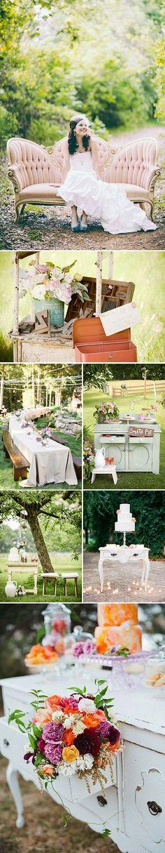 Decoración de bodas con muebles vintage