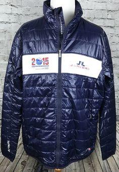 J Lindeberg Men s 2015 Alpine World Ski Championships Puffer Blue Jacket Sz  3XL 80271650f