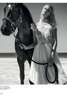 Wear the appropriate attire for your horse. Thanassis Krikis for Marie Claire Greece w/ Veroniek Gielkens