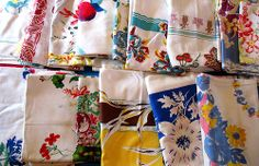 Tablecloths came in a variety of patterns.  You can collect the same type of patterns by collecting tea towels, if you don't have the room to display table cloths