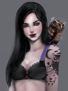 Owl by MarcelaFreire on DeviantArt