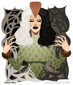 This is an 11 x 14 digital print of Sharons amazing Ouija look from RuPauls Drag Race, Season 4