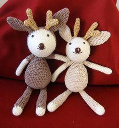 Rudy the Reindeer. Rudy Crochet Amigurumi.  Handmade by Bhandcraft