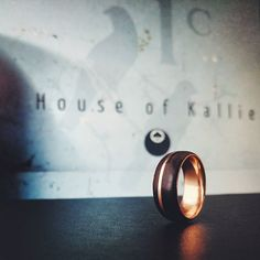 African blackwood and rose gold band Wedding Things, Instagram Accounts, Behind The Scenes, Rings For Men, African, Rose Gold, Engagement Rings, Collection
