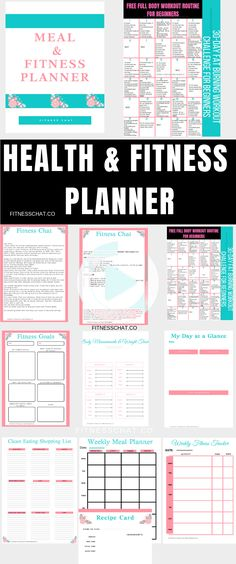 Smash your fitness goals and body goals with this printable health & fitness workout planner! Includes workout tracker, weight loss journal and much more! Fitness Journal, Fitness Planner, Fitness Goals, Workout Planner, Health Planner, Muscle Fitness, Full Body Workout Routine, Workout Routines For Beginners, Basic Workout